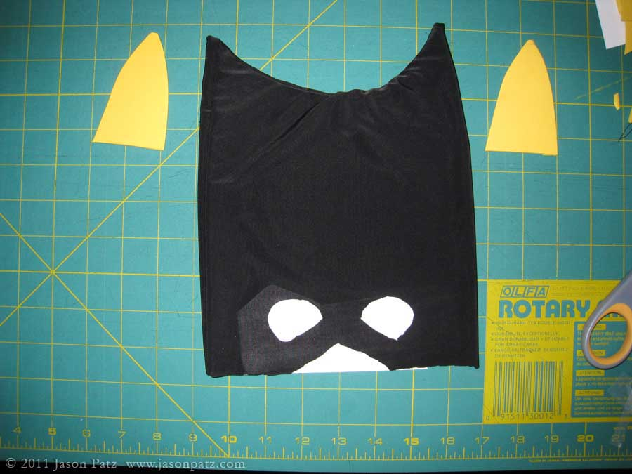 how to make a batgirl mask out of paper