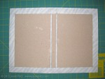 "Place Backerboards about two Thicknesses from Spine Board on Cover Material and Trim with 1"" Extra Around Outside"