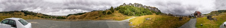 360 View of the Parking Lot.  Gonna Rain.  Quick/Poor Photo Processing on my Part.