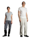 Base Layer:  V-neck T-shirt, running pants, boots (or slip-on dress shoes).  NOTE:  Sith shown in white until last image for clarity.
