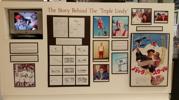 There were a wide variety of displays. Not all just swimming. They had stuff on how timing precision has evolved. Here we have detailed info on The Triple Lindy.